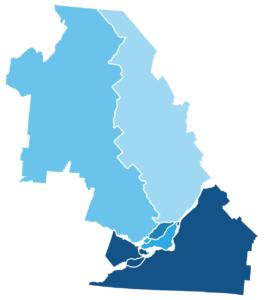 Carte des régions couvertes par le SIVET